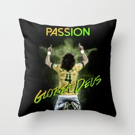 David Luiz Brazil Throw Pillow