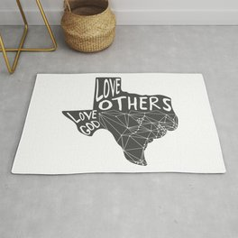 Love God, Love Others Rug