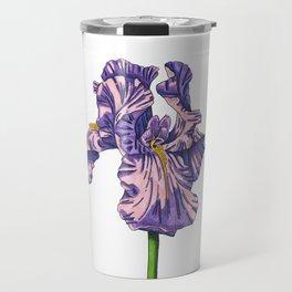 Color of my Iris Travel Mug