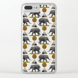 Tribal Elephant Clear iPhone Case