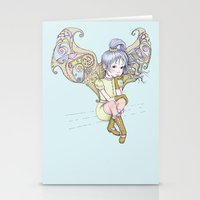steam punk Stationery Cards featuring Steam-punk Fairy by Cloud 9 Art Prints