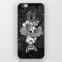 Grizzly and Sphynx iPhone Skin