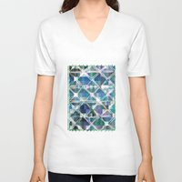grid V-neck T-shirts featuring The Grid by mimulux