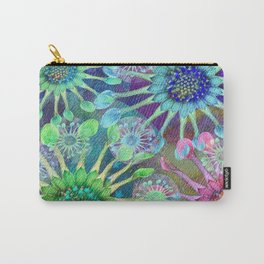 Abstract Passion Flower Burst Carry-All Pouch