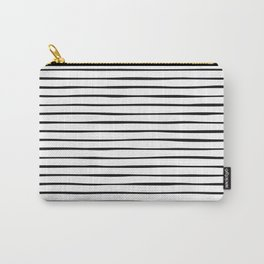 Irregular Stripes (Black) Carry-All Pouch