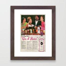GIN & JUICE Framed Art Print