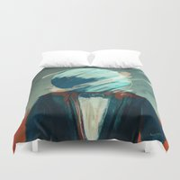 law Duvet Covers featuring Law Abiding Citizen by Jason Linn