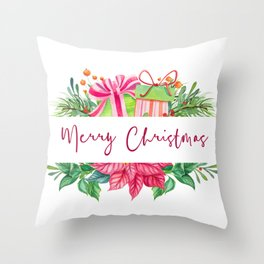 Merry Christmas Design Elements 1 Throw Pillow