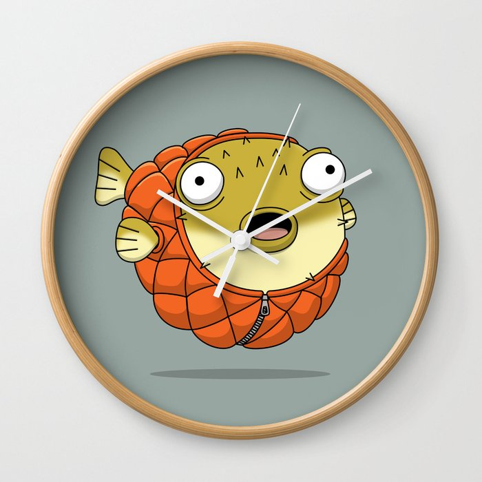 Puffer fish Wall Clock
