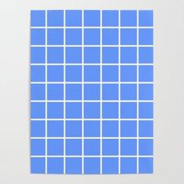 light blue cube Poster