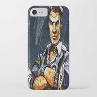 borderlands iPhone & iPod Cases featuring Borderlands Handsome Jack by Joe Misrasi