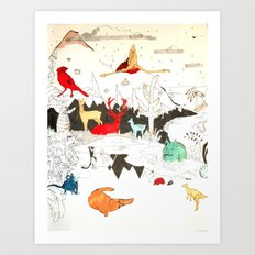 Animal illustration Art Print