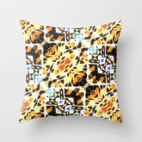 barcelona Throw Pillows featuring Barcelona by kociara