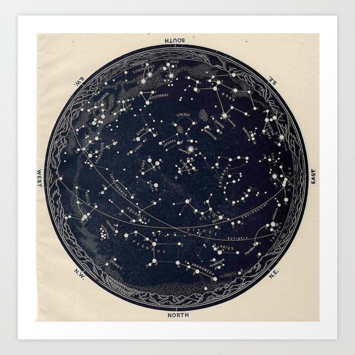 Constellation Chart Kunstdrucke