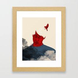 Thought of soledad Framed Art Print