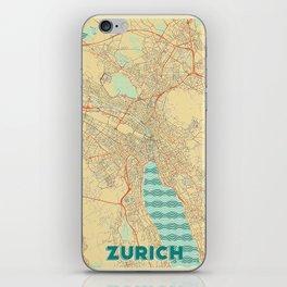 Zurich Map Retro iPhone Skin