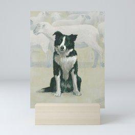 border collie - by phil art guy Mini Art Print