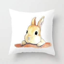 Blinking eyes are staring at you Throw Pillow