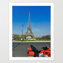 Ride to Paris Art Print