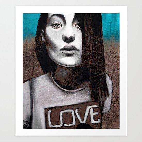 Girl love Art Print