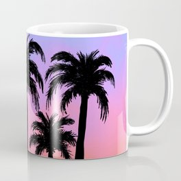 Summer Vibin' Palm Tree Sunset Coffee Mug