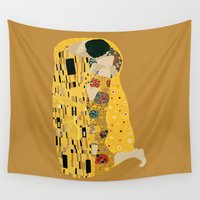 klimt Wall Tapestries featuring klimt by Live It Up
