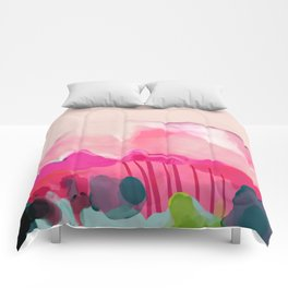 pink mountain Comforters