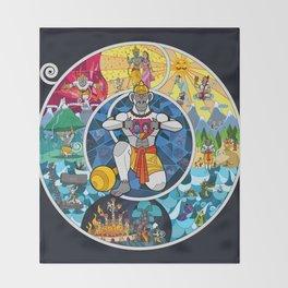 Life of Hanuman Throw Blanket