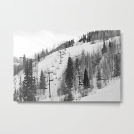 Chair Lifts at Vail Colorado Metal Print