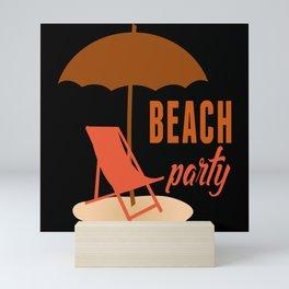Beach Party Summer Beach Mini Art Print