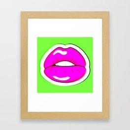 Kiss Me #buyart #popart #kissme #society6 Framed Art Print