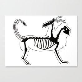 Chimera Skeleton Canvas Print