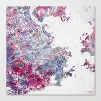 Canvas Prints featuring Rio de Janeiro map by MapMapMaps.Watercolors