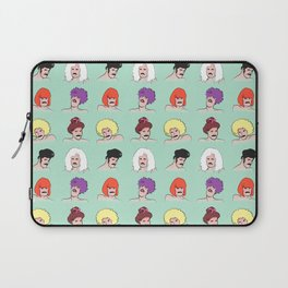 Moustaches and Wigs (pattern) Laptop Sleeve