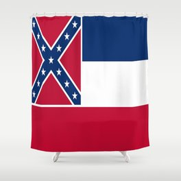 Flag of mississippi-flag of mississippi,south,Mississippian,usa, america,jackson,gulfport,Southaven Shower Curtain