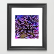 Foliage Abstract In Blue, Pink and Sienna Framed Art Print
