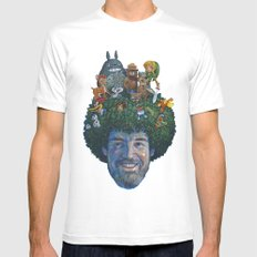 Bob Ross LARGE Mens Fitted Tee White