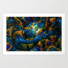 Amorphous Hues Art Print