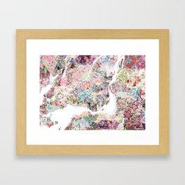 Montreal map - Landscape orientation Framed Art Print