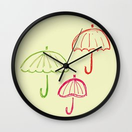 Happy Umbrella Wall Clock
