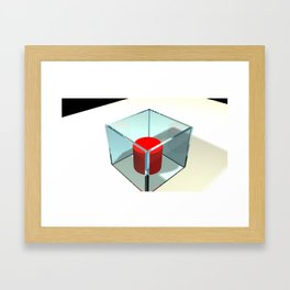 Think inside and outside of the box Framed Art Print