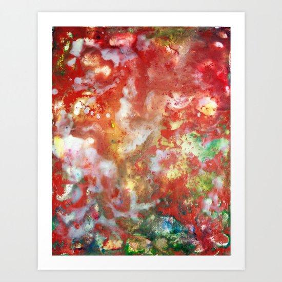 Enaustic Galaxy  Art Print