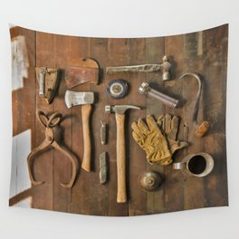 Tools (Color) Wall Tapestry