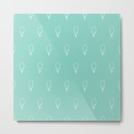 Vector Seamless Pattern Ice Cream Cones Metal Print