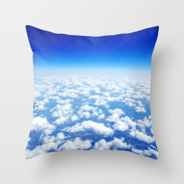 Looking Above the Clouds Throw Pillow
