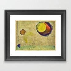 beyond planets Framed Art Print