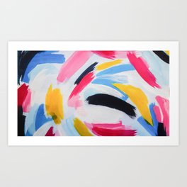 Whirpool of color Art Print
