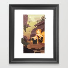 Desert Mermaid Framed Art Print