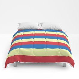red blue cream stripes Comforters