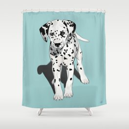 Dalmatian Puppy Shower Curtain